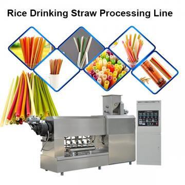 Safe And Pollution-Free Rice Making Drinking Straw Machine With 100-250kg/h Capacity
